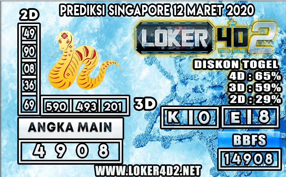 PREDIKSI TOGEL SINGAPORE LOKER4D2 12 MARET 2020