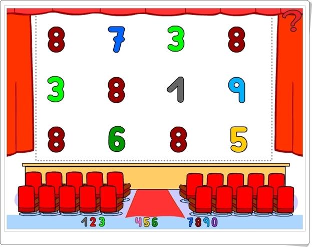 """""""Señala los números hasta el 9"""" (Juego de Matemáticas de Infantil)"""