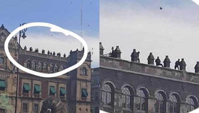 Francotiradores en Palacio Nacional?, Falso, ignorancia hizo que confundieran inhibidores de señal con rifles