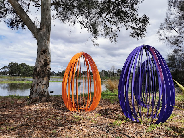 Airds Public Art | Eggs by the Pond.