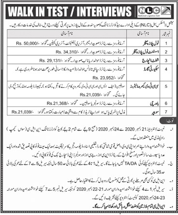 NLC Jobs National Logistic Cell NLC Latest Jobs Advertisement in Pakistan 100+ Vacancies in NLC Careers