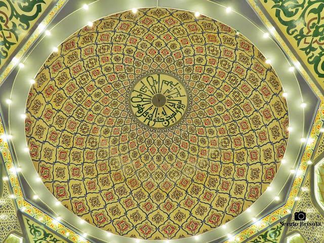 Close-up da Abóbada central da Mesquita Brasil no Cambuci - São Paulo