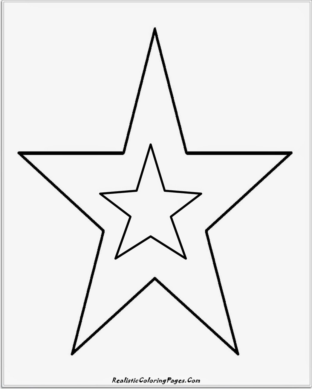 simple star coloring pages