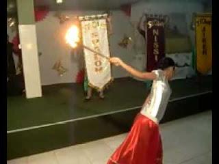 O uso dos objetos nas ministrações, tochas de fogo