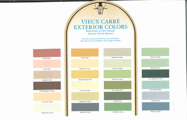 Sherwin Williams Created This Historic Color Palette For The Restoration Of French Quarter In New Orleans I Cannot Find A Larger Picture