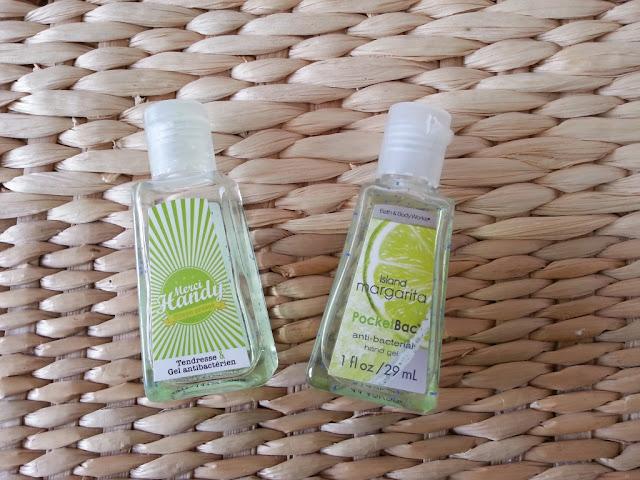 gels antibacteriens bath and body works et merci handy