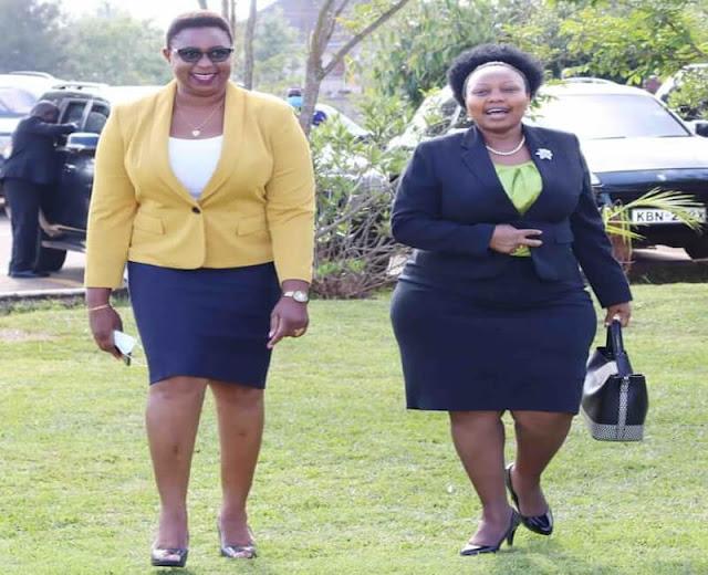 Malindi MP Aisha Jumwa with Senator Millicent Omanga