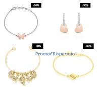 Logo Stroili Oro ''Festa di Primavera'' : sconto 30% su bijoux in acciaio e argento