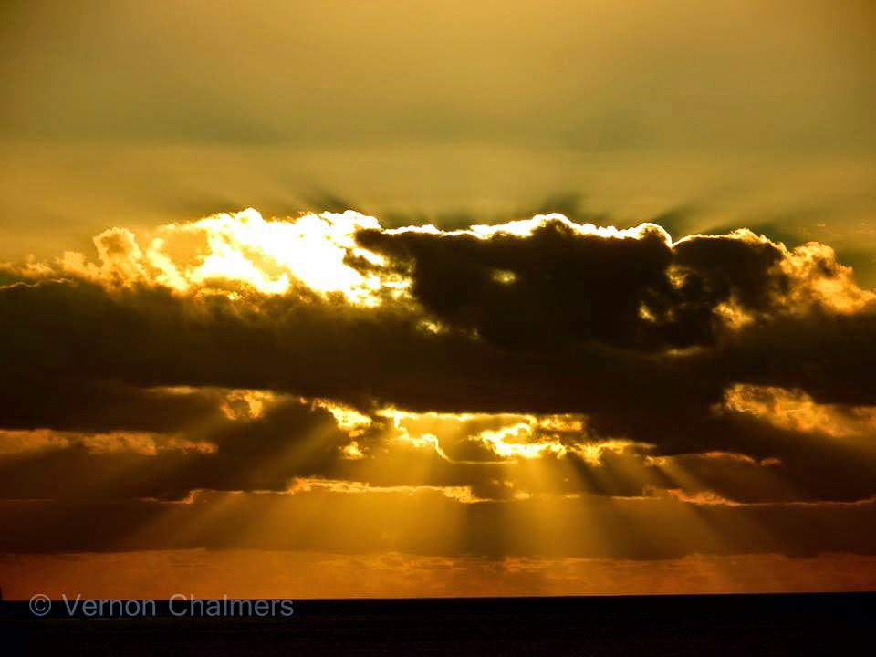 Sunset over Milnerton Lagoon / Woodbridge Island / Table Bay Cape Town