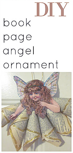 angel ornament with overlay