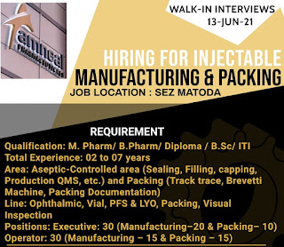 Amneal Pharma Recruitment M Pharm/ B Pharm/ Diploma/ BSc/ ITI For Officer/Executive & Operator Post | Walk In Interview