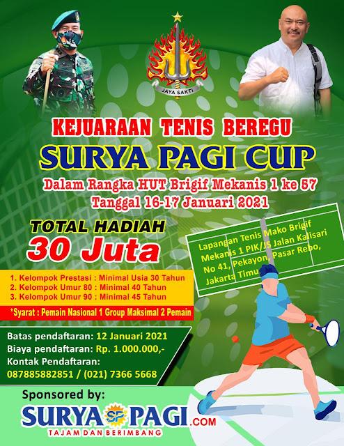 Turnamen Tenis Beregu Surya Pagi Cup