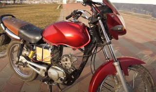 Old motorcycle electric conversion