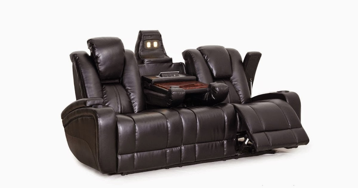 Cheap Reclining Sofas Sale Hawkeye Double Reclining Sofa With Tray Table