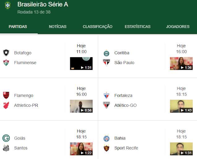 Brasileirao 2020 Confira Os Jogos Desse Domingo 04 Professor Taciano Medrado