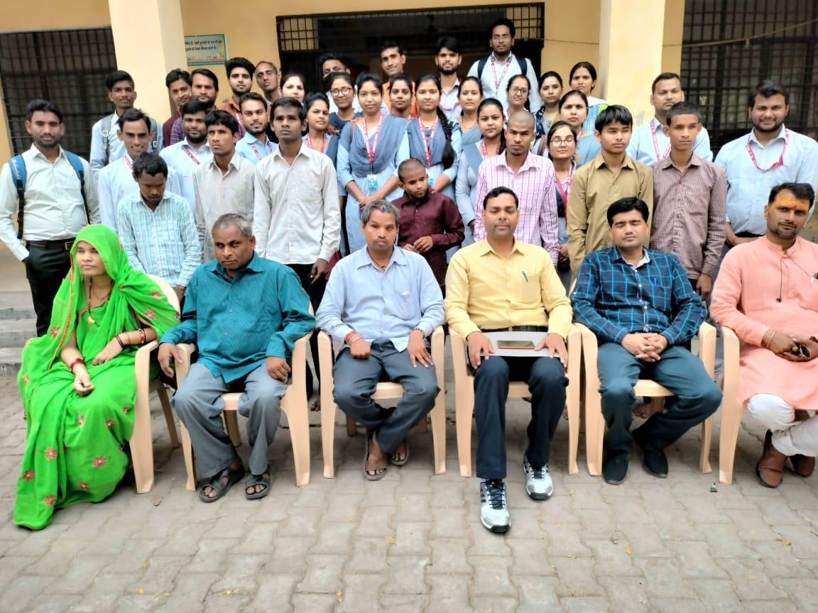 डीवीसी के एम.एड. विद्यार्थियों ने श्रीराम नेत्रहीन विद्यालय का पर्यवेक्षण किया