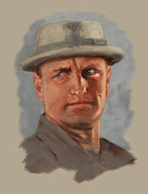 oil on panel, american actor
