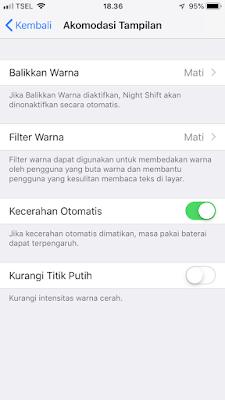 Cara mengatur mode gelap di iPhone