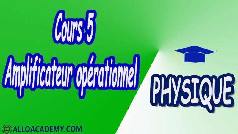 Cours 5 Amplificateur opérationnel pdf
