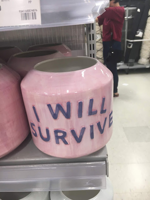 Pink I Will Survive Pot from Kmart Australia