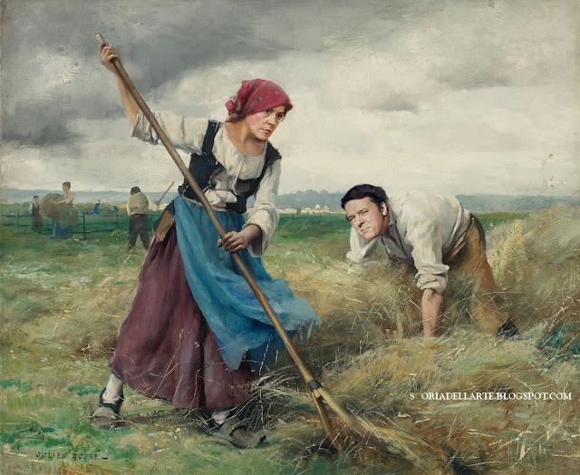 Fertility Day - Lorenzin e Renzi nella Raccolta del grano-Fotomontaggi sul Fertility Day