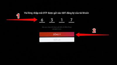 Nếu SĐT chưa được tạo tài khoản thì nhấn đăng ký tạo tài khoản mới và xác thực mã OTP