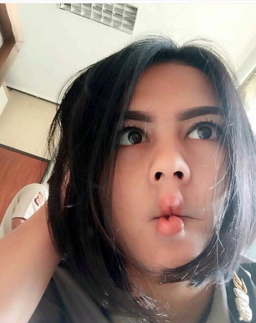 Hebooh Polwan Cantik di Bandung