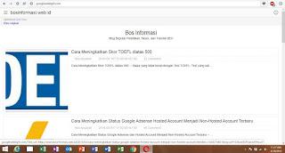 Tampilan Google Weblight Bos informasi