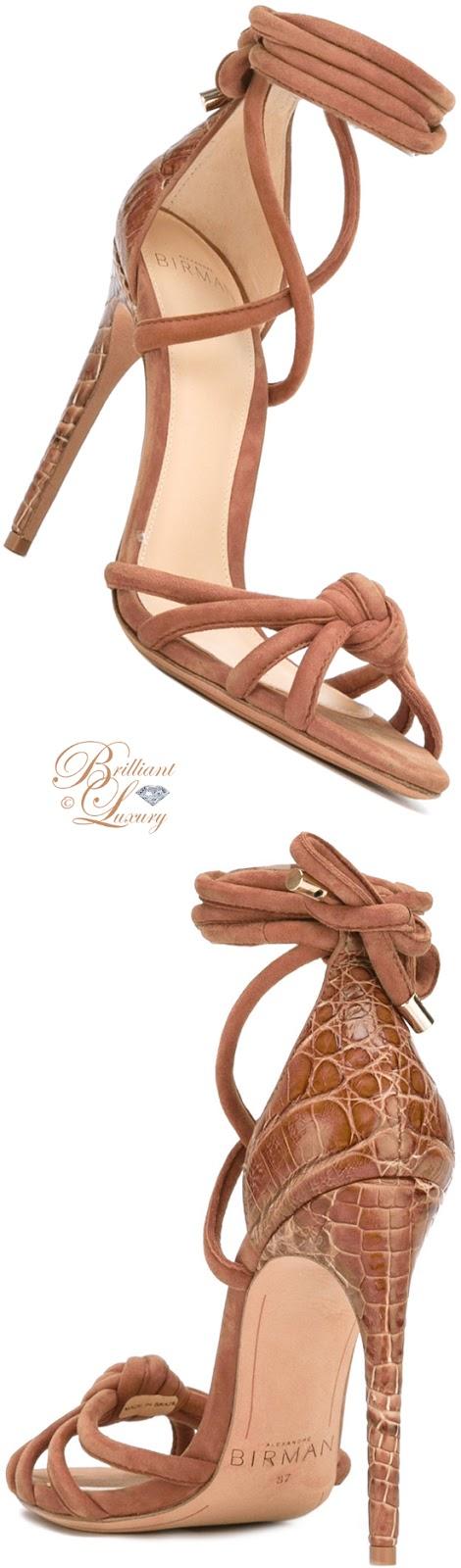 Brilliant Luxury ♦ Alexandre Birman Lanna Ankle-Wrap Sandals