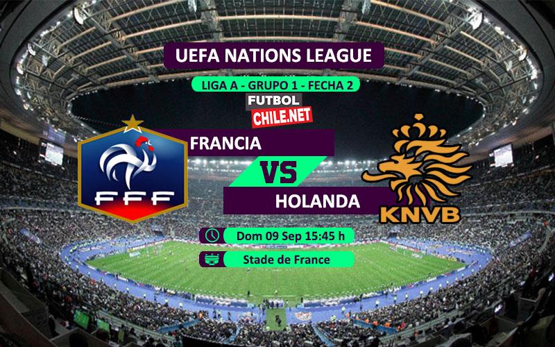 Mira Francia vs Holanda en vivo y online por la Segunda Fecha del Grupo 1 de la Liga A de UEFA Nations League