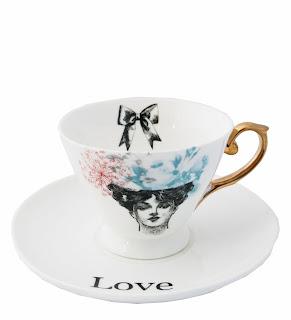 "vintage teacup ""love"""