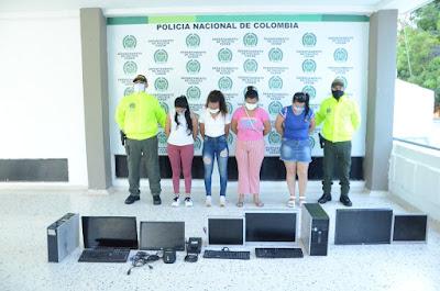 hoyennoticia.com, Cuatro mujeres capturadas en Valledupar