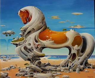 escenas-surrealistas-paisajes-y-caballos pinturas-caballos-paisajes-surrealistas