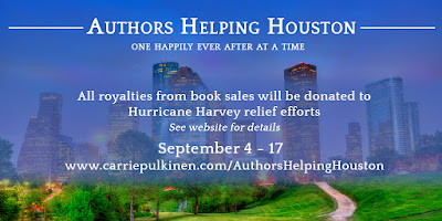 Graphic describing Authors Helping Houston fundraising effort