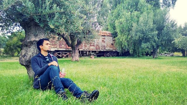 Decansando na vinícola Trapiche, em Mendoza