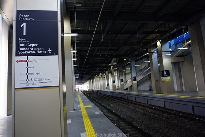 Jalur Kereta Api di Stasiun BNI City