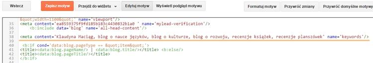 edytor html blogger