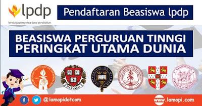 Beasiswa LPDP Perguruan Tinggi Utama Dunia 2020