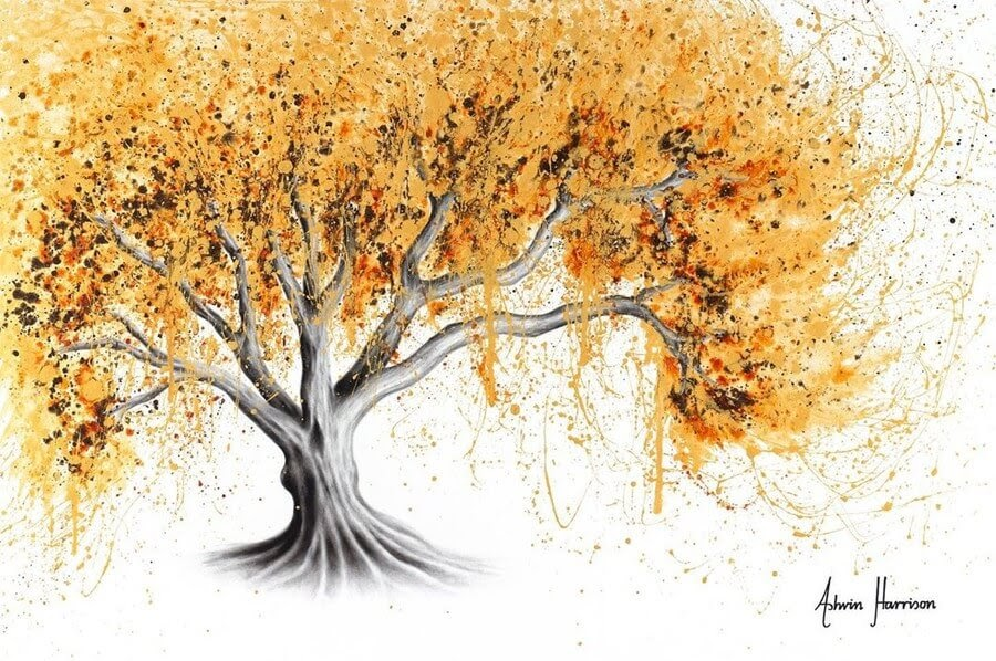 11-Brown-Orange-Tree-Ashvin-Harrison-Acrylic-Paintings-www-designstack-co