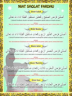Banner Niat Sholat 5 Waktu Free CDR