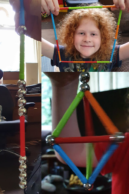 Geomag magnetic toy strength to lift several times own weight