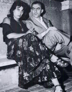Anna Magnani and Luchino Visconti on the set of Bellissima, scripted by Cecchi D'Amico