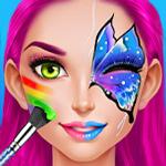 لعبة حفلة رسم الوجه