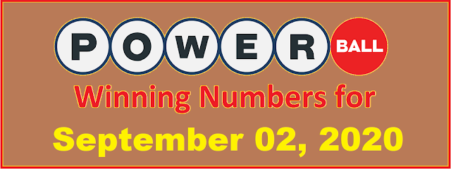 PowerBall Winning Numbers for Wednesday, September 02, 2020