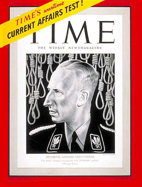 Reinhard Heydrich on Time magazine, 23 February 1942 worldwartwo.filminspector.com