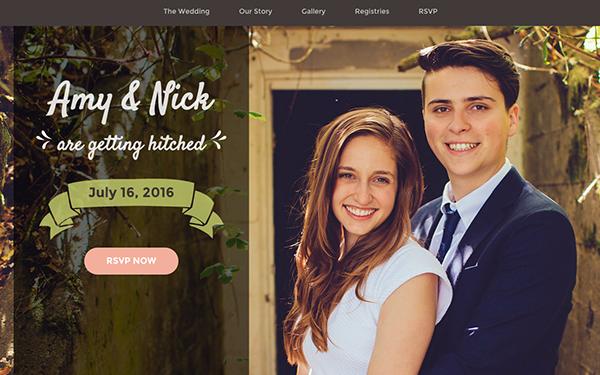 Matrimony Wedding Invitation Bootstrap