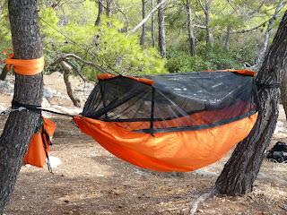 Wild Camping Greece DD Frontline Hammock
