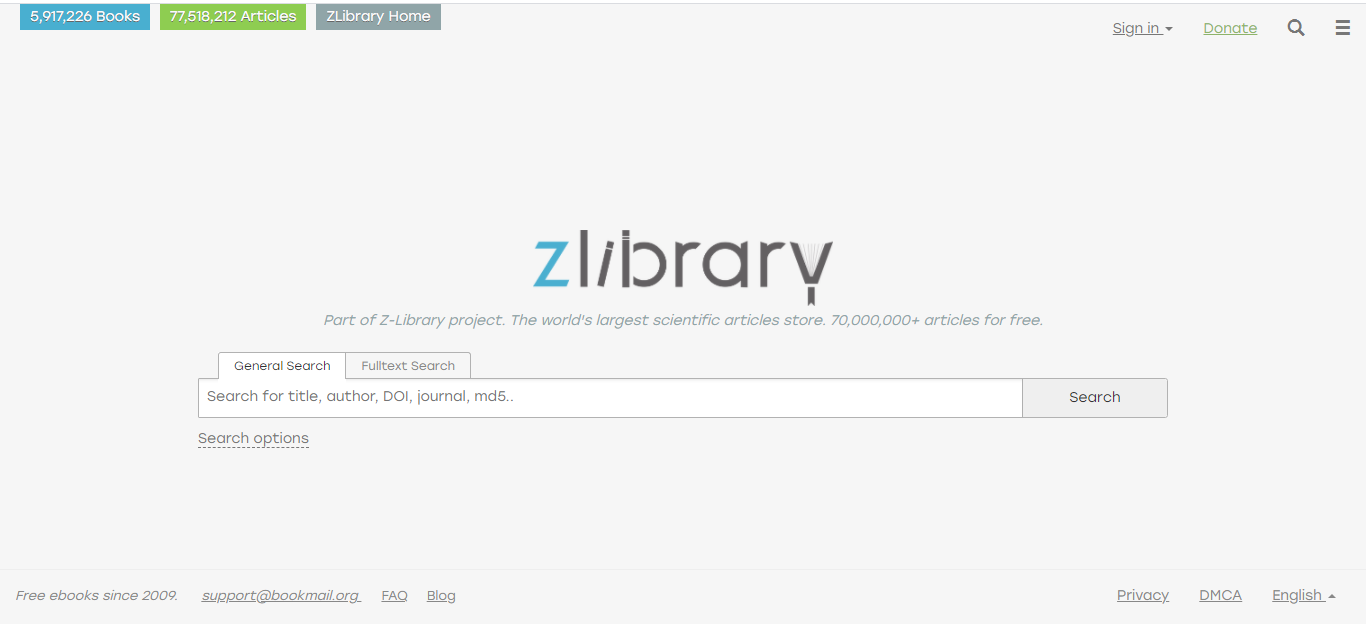 Z Library – The World's Largest Free Ebook Site
