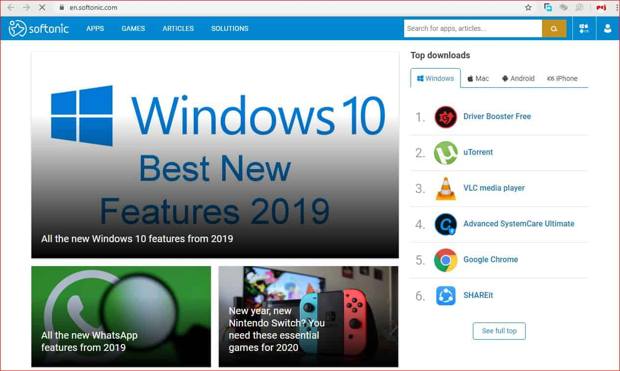 Top 20 Best Free APK Android App Download Site softonic