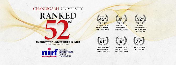 Chandigarh University shines at NIRF Rankings 2021